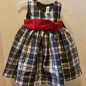 Dress 12 months plaid girl